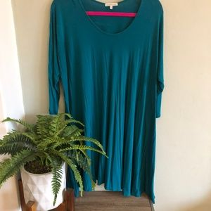 Teal Charlotte Russe swing dress size XL // 0012